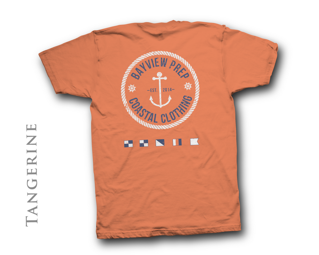 Anchor Shirt in Tangerine - Bayview Prep