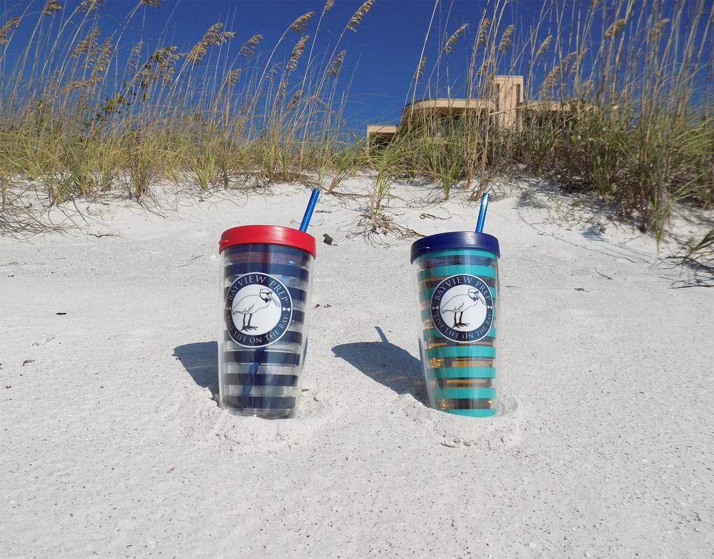Navy and Red Tumbler Cup - Bayview Prep