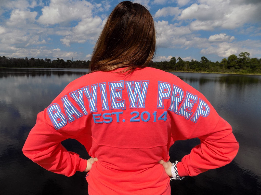 Spirit Jersey® in Coral - Bayview Prep