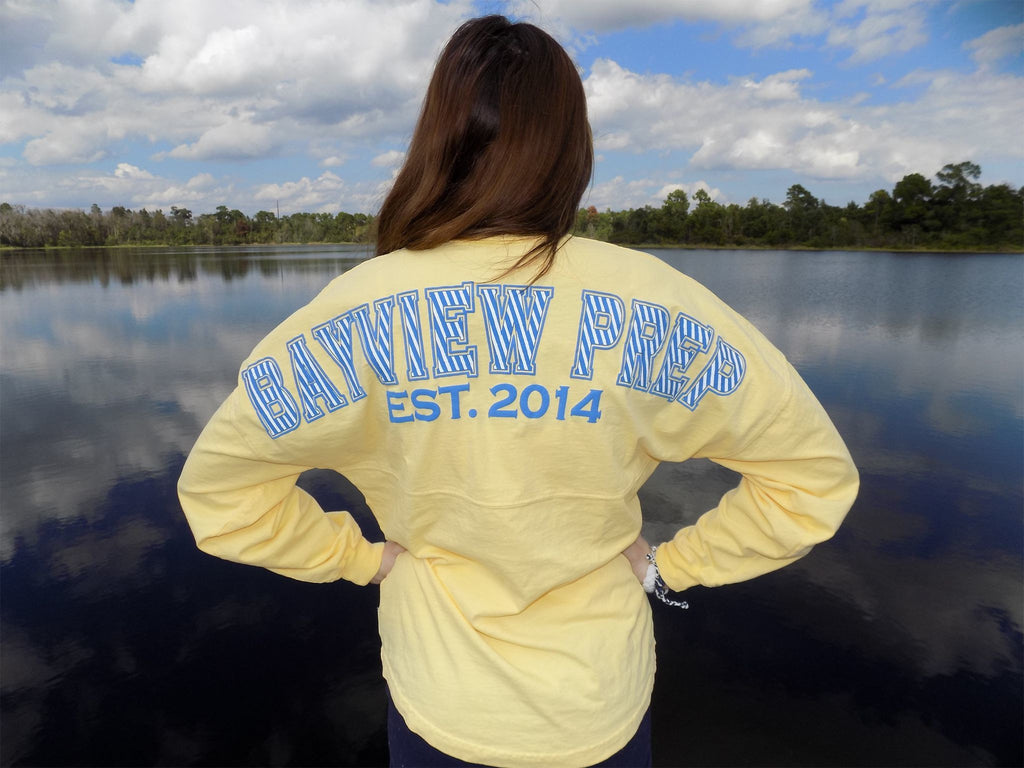 Spirit Jersey® in Pale Yellow - Bayview Prep