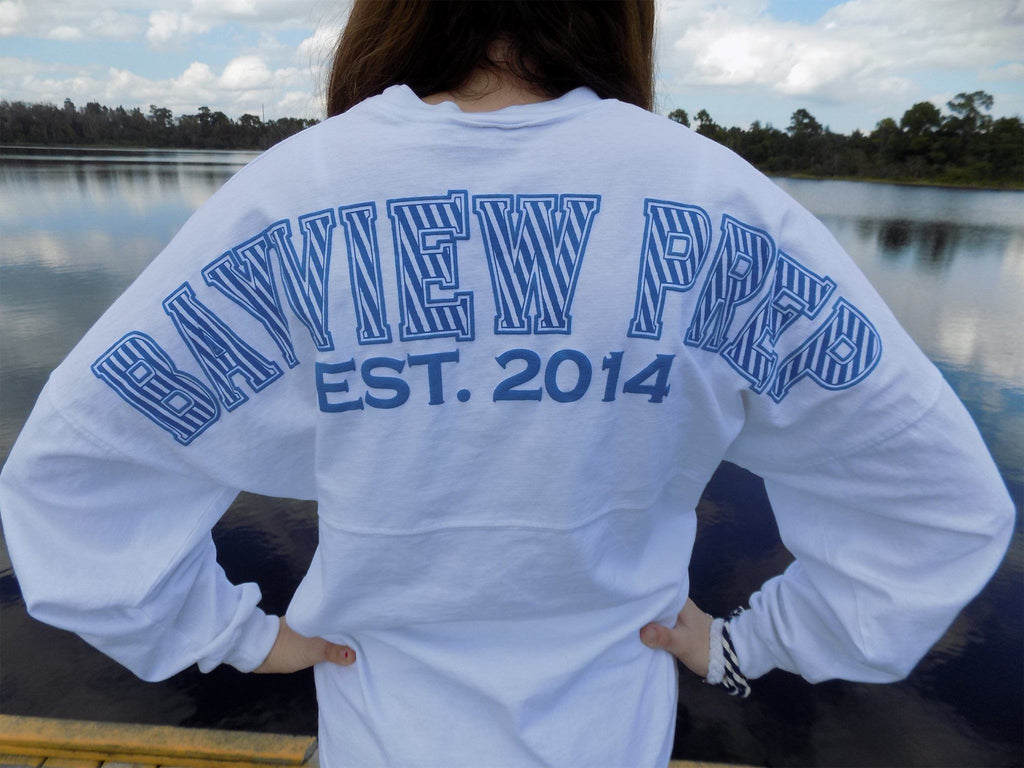 Spirit Jersey® in White - Bayview Prep