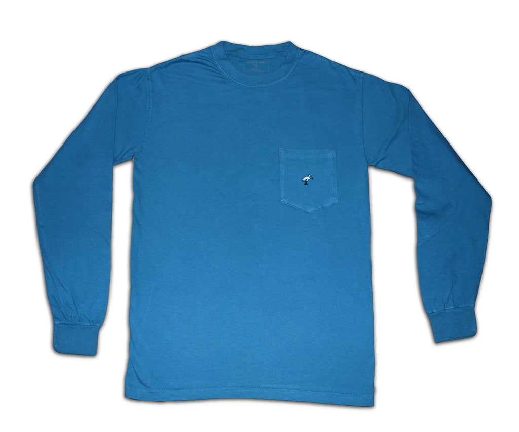 Long Sleeve Pocket Tee - Deep Sea - Bayview Prep