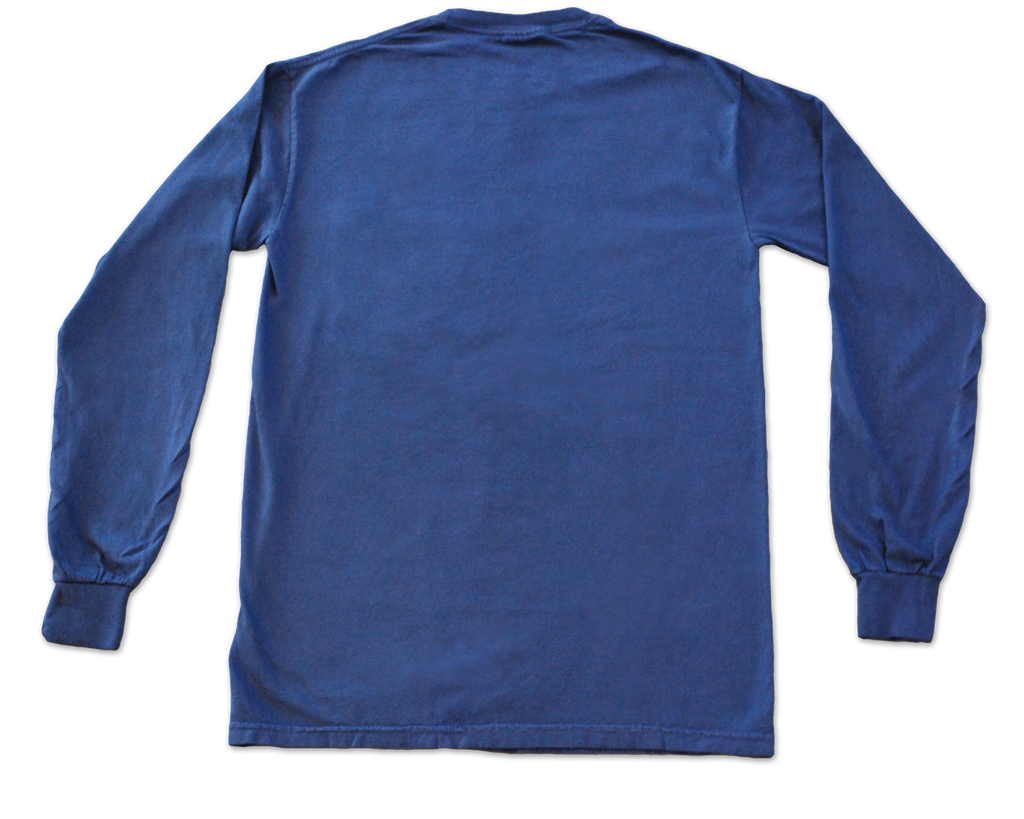 Long Sleeve Pocket Tee - Navy - Bayview Prep
