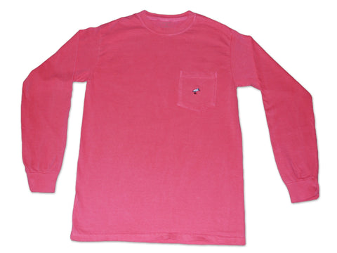 Long Sleeve Pocket Tee - Nautical Red