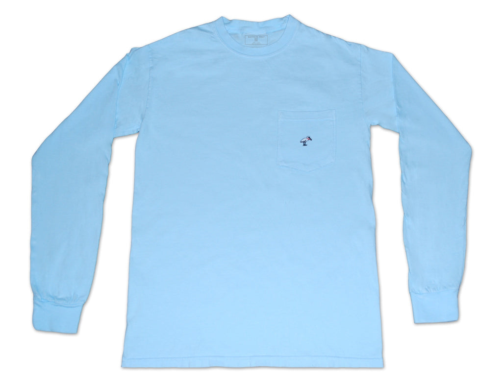 Long Sleeve Pocket Tee - Skyway Blue - Bayview Prep