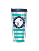 Teal and Navy Tumbler Cup - Bayview Prep