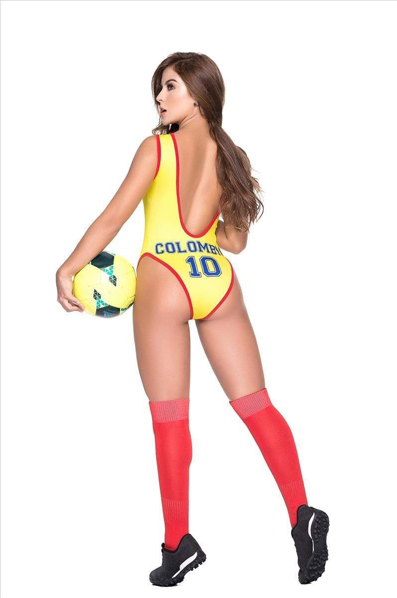 espiral World Cup Soccer Colombia Team Sports Bodysuit Costume Apparel & Accessories > Clothing > Underwear & Socks > Lingerie