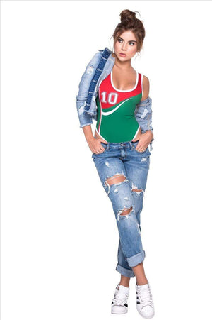 espiral World Cup Soccer Mexico Team Sports Bodysuit Costume Apparel & Accessories > Clothing > Underwear & Socks > Lingerie