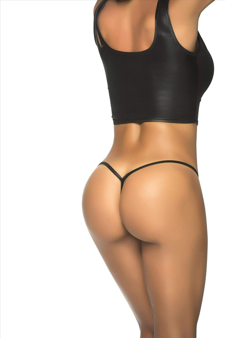 espiral S/M / Wet Black Wet Black Y-Back Thong G-String Panty Bottom (Many Color Available) ESP-1048 Apparel & Accessories > Clothing > Underwear & Socks > Underwear