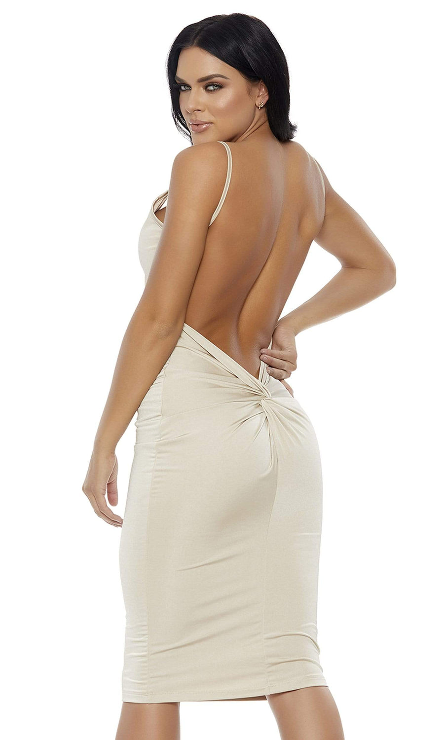Forplay Medium / Nude Nude Knot Into It Midi Dress SHC-886800-M-FP Apparel & Accessories > Clothing > Dresses