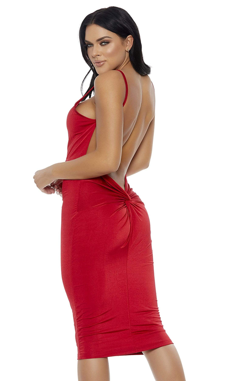 Forplay Large / Red Red Knot Into It Midi Dress SHC-886800-L-FP Apparel & Accessories > Clothing > Dresses