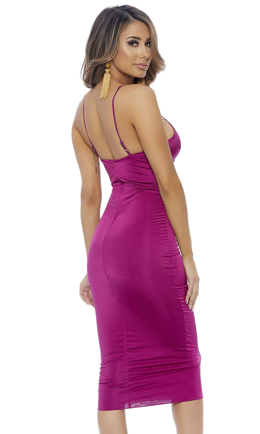 Forplay Small / Magenta Magenta Major Key Midi Dress SHC-886810-S-FP Apparel & Accessories > Clothing > Dresses