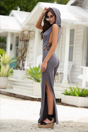mapale Grey Side Lace-Up w/ Hoodie Jumpsuit Grey Side Lace-Up w/ Hoodie Jumpsuit Mapale 1893 | SHOP NOW | Apparel & Accessories > Clothing > One Pieces > Jumpsuits & Rompers