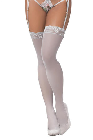 mapale Grey / One Size Grey Mesh Mesh Thigh Highs Stocking SHC-1097-OS-GREY-MA Apparel & Accessories > Clothing > Pants