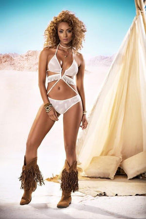 mapale V-shape Wire Light Embroidered Sheer Fringe Cut-out Two Piece Lingerie Set Apparel & Accessories > Clothing > Underwear & Socks > Lingerie