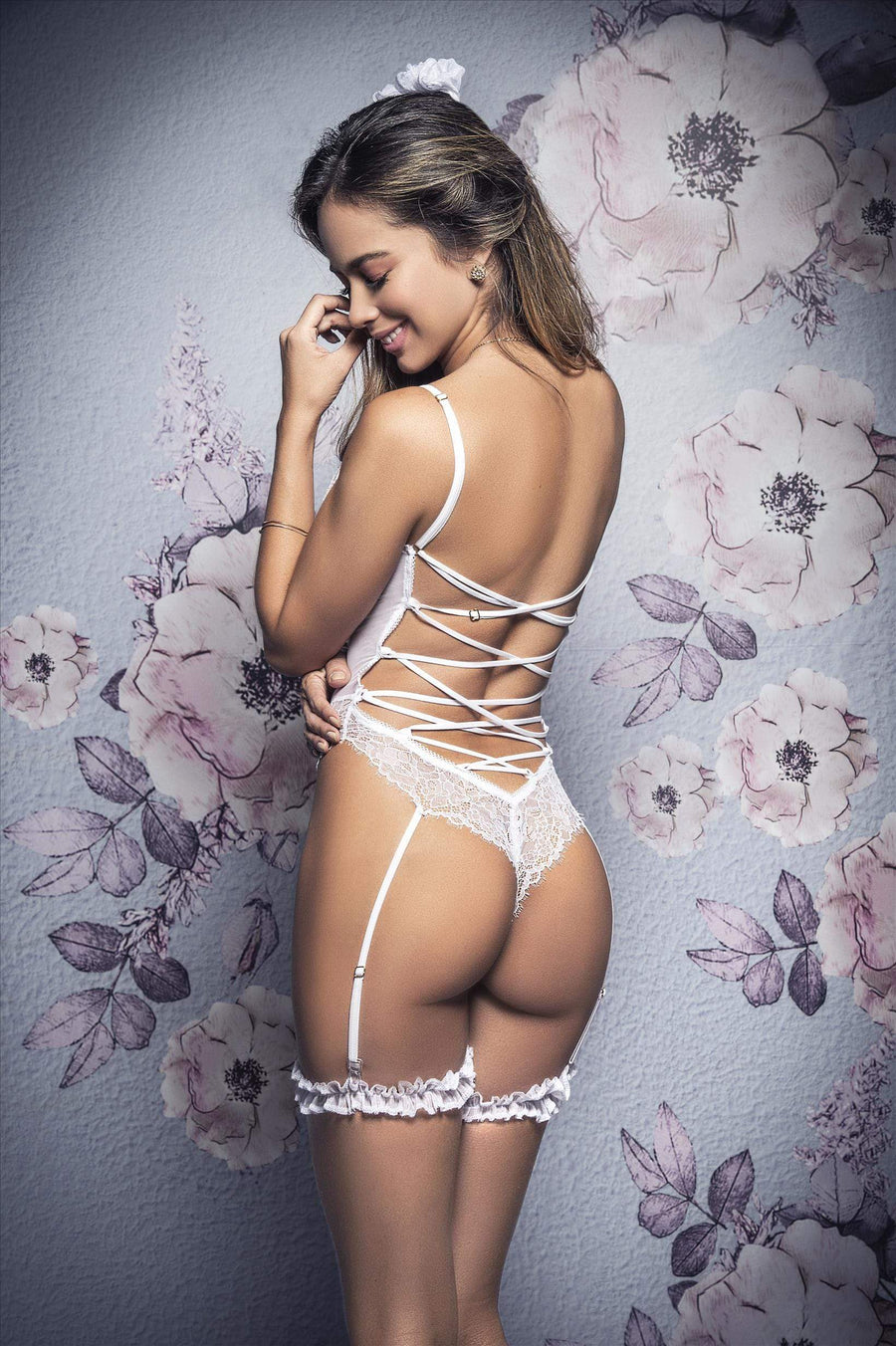 mapale White Bridal Eyelash Lace Teddy w/ Garter Details Lingerie White Bridal Eyelash Lace Teddy w/ Garter Details Lingerie | SHOP NOW | Apparel & Accessories > Clothing > Underwear & Socks > Lingerie
