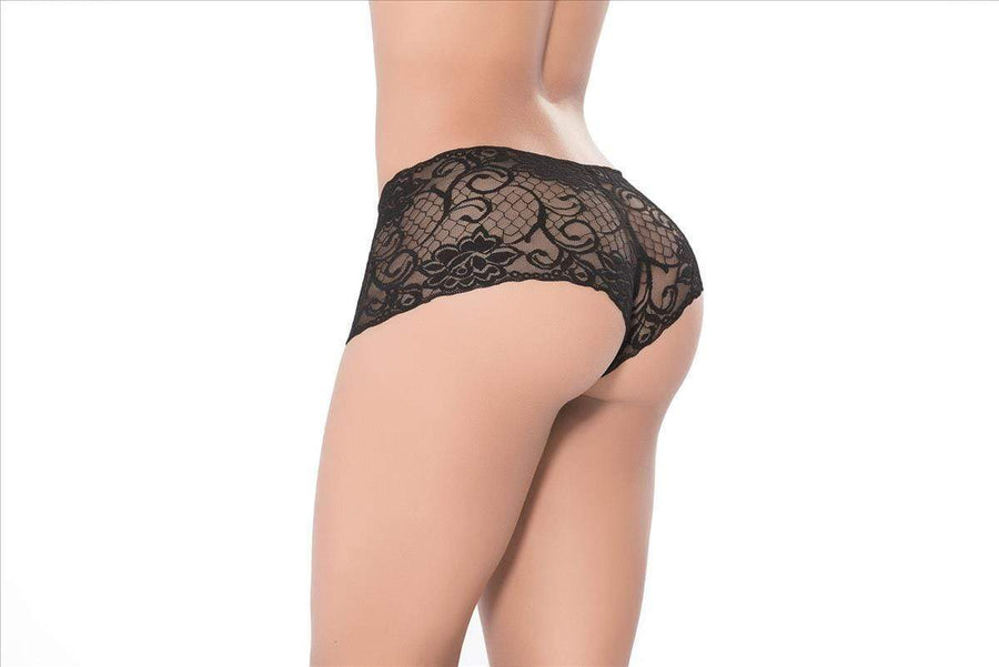 mapale Small / Black Black Ultra Soft Stretch Lace Boy Short (Many Colors Available) ESP-90-BLACK-S Black Ultra Soft Stretch Lace Boy Short Mapale 90 | SHOP NOW | SoHot  Apparel & Accessories > Clothing > Underwear & Socks > Underwear