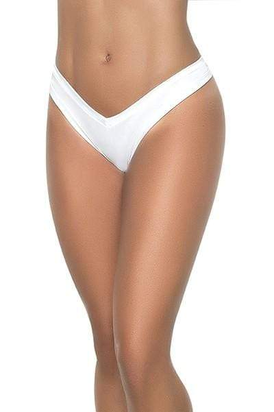 mapale S/M / White White Wet High Leg Thong (Black Colors Available) SHC-1096-WHT-SM Apparel & Accessories > Clothing > Underwear & Socks > Underwear