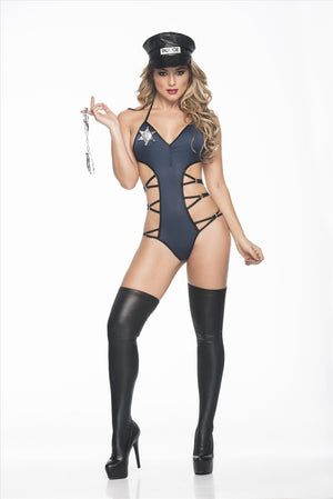 mapale Small / Blue Unstoppable Hottie Police Agent Fantasy Costume Set SHC-6244-S-MA Unstoppable Hottie Police Agent Costume Set  | SHOP NOW| Mapale 6244 Apparel & Accessories > Clothing > Underwear & Socks > Underwear
