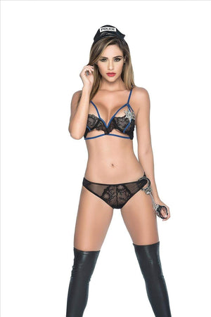 mapale Small SEXY LACE POLICE LINGERIE FANTASY COSTUME SET ESP-6311-S-MA MAPALE 6311  SEXY LACE POLICE LINGERIE FANTASY COSTUME SET COSPLAY HALLOWEEN Apparel & Accessories > Costumes & Accessories > Costumes