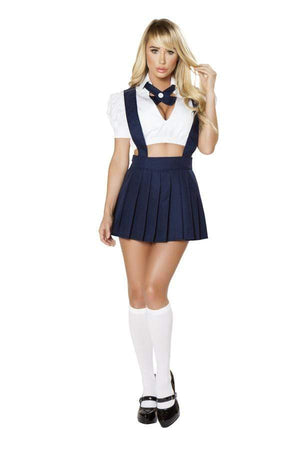 Roma Naughty Private School Hottie Costume Two Piece Set Naughty Private School Girl Costume Roma 4754 Blue White Cosplay | SHOP NOW Apparel & Accessories > Clothing > One Pieces > Jumpsuits & Rompers