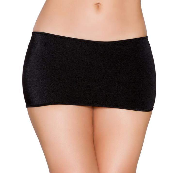 "Roma One Size / Black Black Lycra Mini Skirt (Hot Pink, Red, Turquoise, & White also available) SHC-SK106-BLACK-OS-R Lycra Mini Skirt (7 1/2"" in Length) Festival Dance Rave Roma SK106 Apparel & Accessories > Clothing > Skirts"