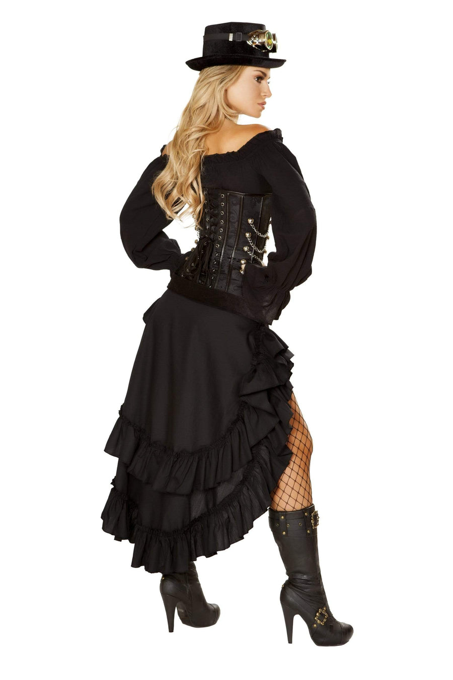 Roma Small / Black 6pc Victorian Steam Maiden SHC-4856-S-R Apparel & Accessories > Costumes & Accessories > Costumes