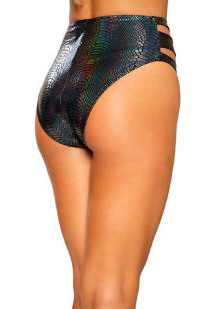 Roma Black Snake Skin Cutout High-Waist Shorts w/ Zipper Closure( White is also available) Black Snake Skin Cutout High-Waist Short Festival Rave Dance Roma 3728 Apparel & Accessories > Costumes & Accessories > Costumes