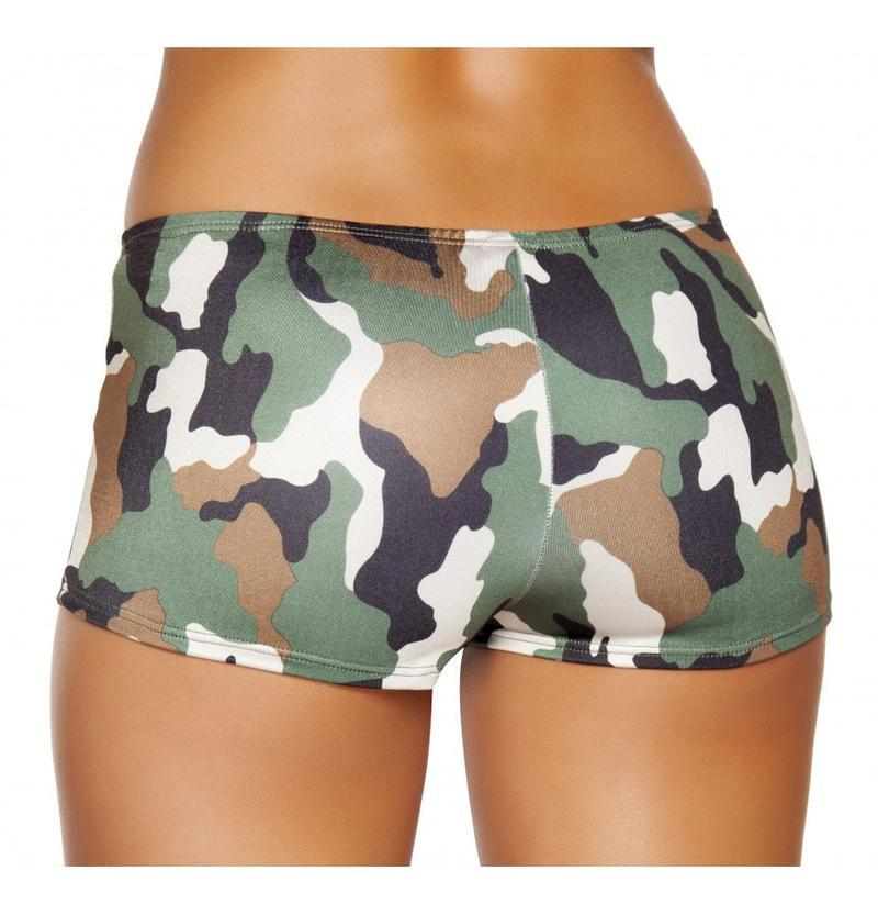 Roma S/M / Print Camouflage Boy Shorts SHC-SH225-PRINT-S/M-R Camouflage Boy Shorts Festival Rave Dance Roma SH225 Apparel & Accessories > Costumes & Accessories > Costumes