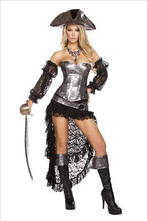 Roma Deadly Pirate Captain Costume Apparel & Accessories > Costumes & Accessories > Costumes