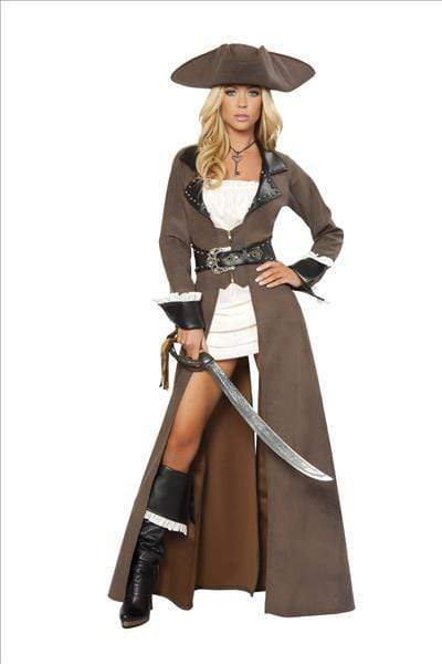 Roma Deluxe Pirate Captain Costume Apparel & Accessories > Costumes & Accessories > Costumes