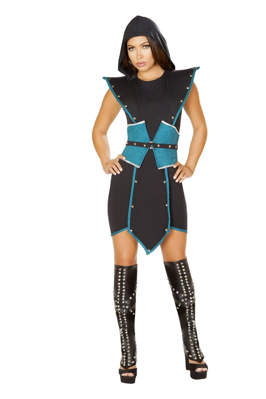 Roma Small / Black Emperors Guard Black w/ Blue Costume SHC-4840-S-R Apparel & Accessories > Costumes & Accessories > Costumes