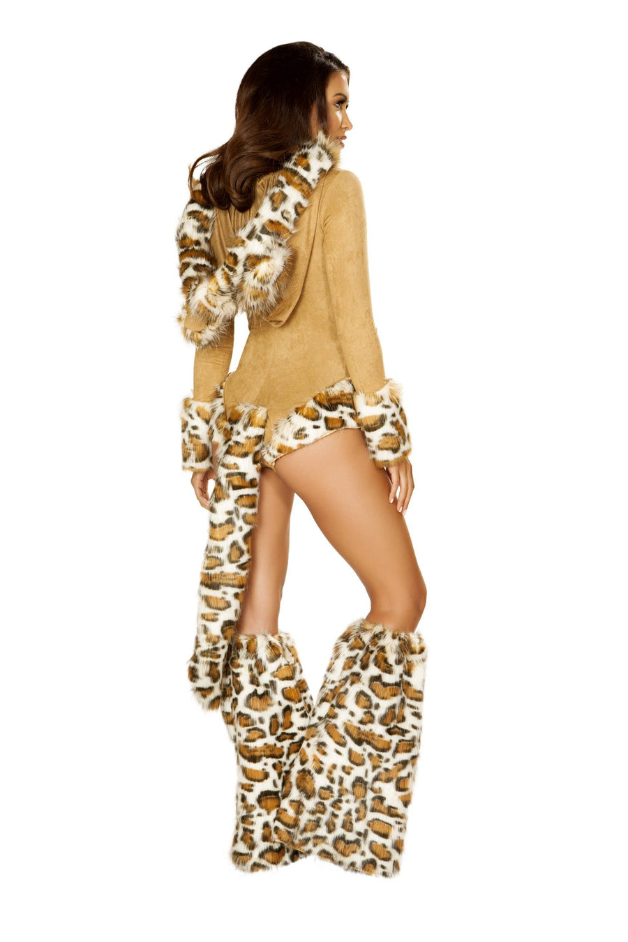 Roma Small / Brown Leopard Princess Furry Hooded Costume SHC-4874-S-R Apparel & Accessories > Costumes & Accessories > Costumes