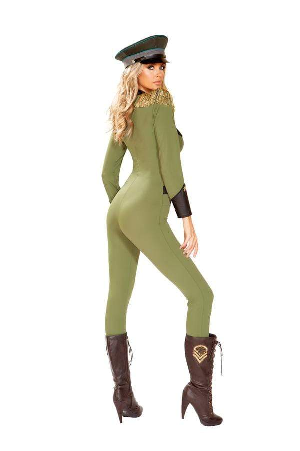 Roma S/M / Green One Piece Military Army Babe SHC-4924-S/M-R Apparel & Accessories > Costumes & Accessories > Costumes