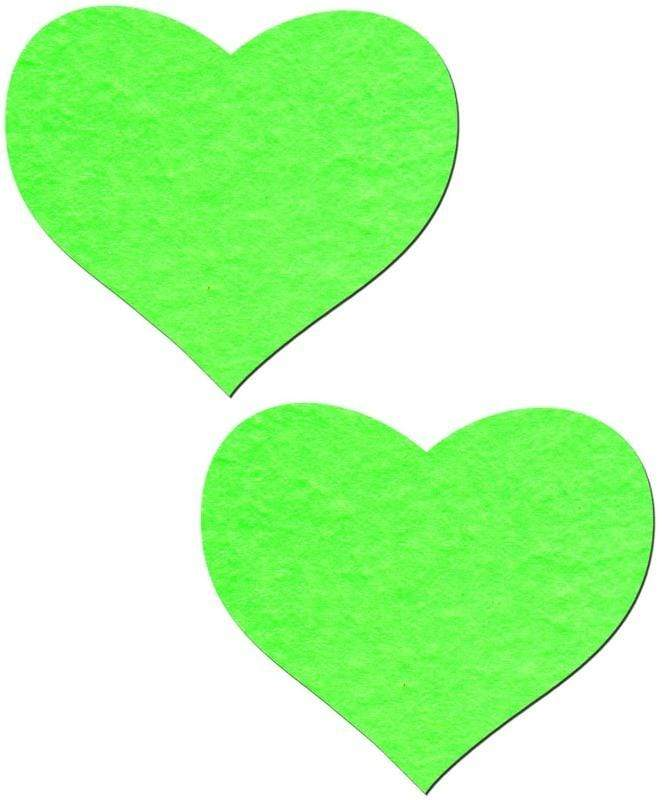 Roma ONE SIZE / Blue Neon Green Glow 2 Piece Heart Pasties SHC-P105-R Iridescent Blue 2 Piece Heart Pasties Pastease Roma Costume P105 Rave Apparel & Accessories > Costumes & Accessories > Costumes