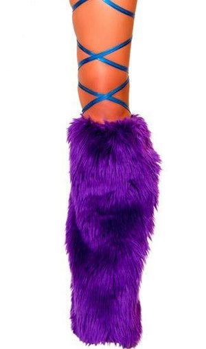 Roma ONE SIZE / BLUE Royal Blue Metallic Thigh Leg Stretch Wraps EDM Dance Rave Wear SHC-3022-BLUE-R Apparel & Accessories > Costumes & Accessories > Costumes