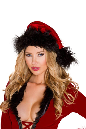 Roma One Size / Red/Black Red/Black Fur Trimmed Hat SHC-C181-OS-R Apparel & Accessories > Costumes & Accessories > Costumes