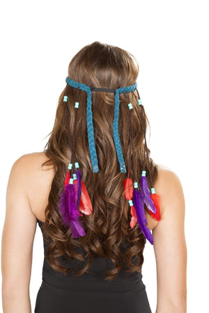 Roma One Size / Turquoise Turquoise Indian Headband SHC-H4725-OS-R Apparel & Accessories > Costumes & Accessories > Costumes