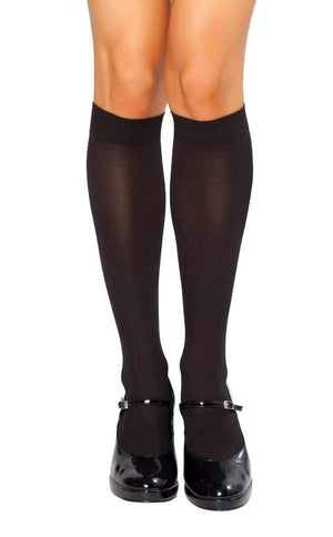 Roma OS / Black Black Knee High Stockings (Red & White also available) SHC-STC202-OS-BLK-R Apparel & Accessories > Costumes & Accessories > Costumes
