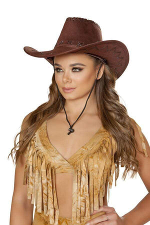 Roma OS / Brown Pinup Sheriff Hat SHC-H4361-OS-R Apparel & Accessories > Costumes & Accessories > Costumes