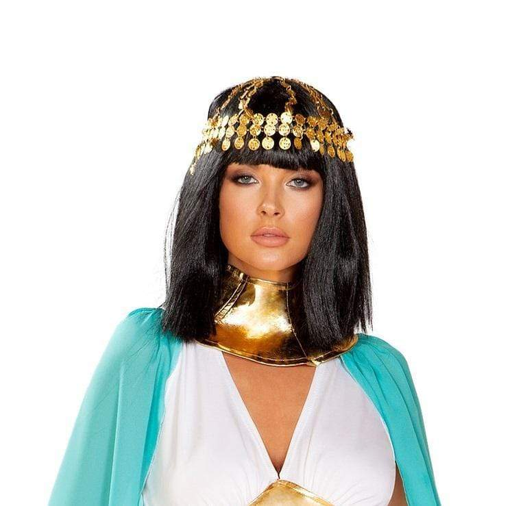 Roma OS / Gold Gold Coin Head Piece SHC-4927-OS-R Apparel & Accessories > Costumes & Accessories > Costumes