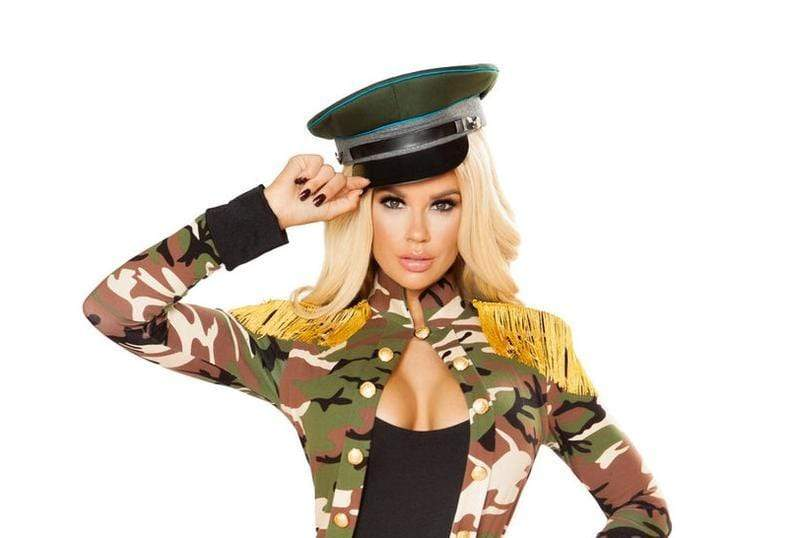 Roma OS / Print Military Hat SHC-4833-OS-MILITARY-R Apparel & Accessories > Costumes & Accessories > Costumes