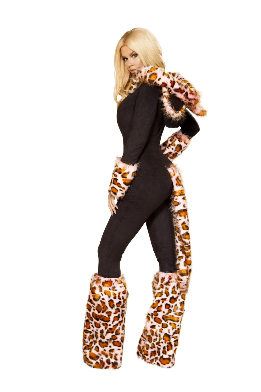 Roma Small / Black Pink Leopard Costume, Roma 4873 SHC-4873-S-R Apparel & Accessories > Costumes & Accessories > Costumes