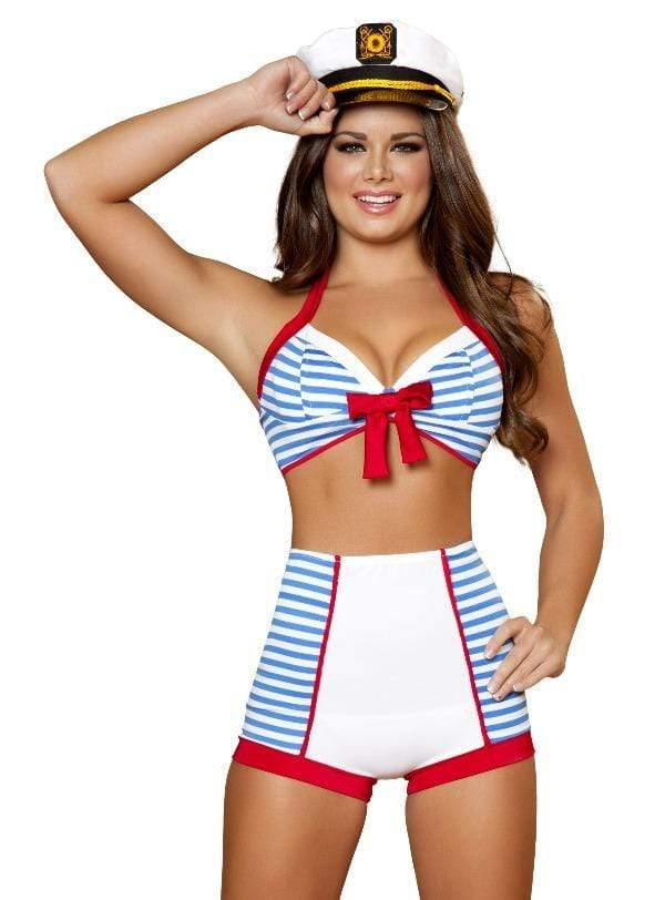 Roma Playful Pinup Sailor SULTRY SAILOR BABE COSTUME | ROMA 4395 Halloween Cosplay Costume Apparel & Accessories > Costumes & Accessories > Costumes