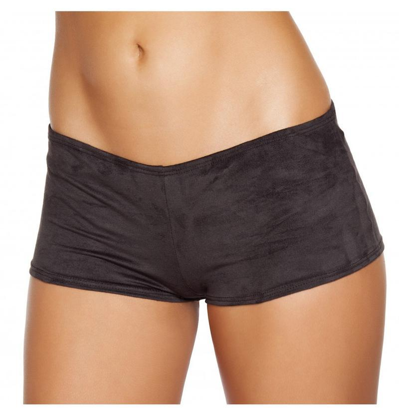 Roma S/M / Black Black Suede Boy Shorts SHC-SH224-BLACK-S/M-R Suede Boy Shorts Festival Rave Dance Roma SH224 Apparel & Accessories > Costumes & Accessories > Costumes