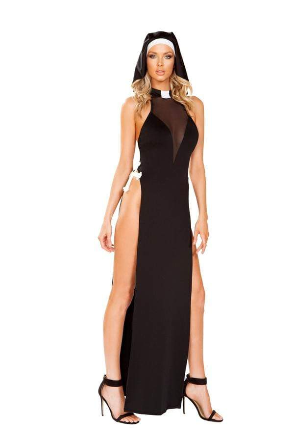 Roma S/M / Black Two Piece Nun Of Your Business SHC-4915-S/M-R Apparel & Accessories > Costumes & Accessories > Costumes
