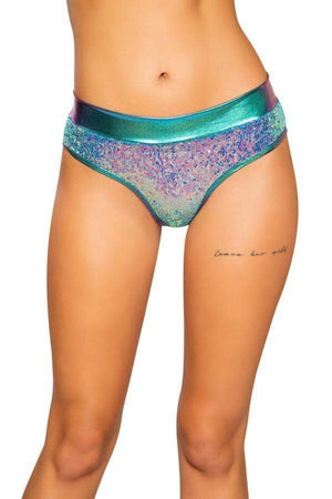 Roma S/M / Jade Blue Jade Blue Sequin & Shimmer Shorts (Light Blue & Pink Blue also available) SHC-3711-JB-S/M-R Jade Blue Sequin & Shimmer Shorts Festival Rave EDM Dance Roma Apparel & Accessories > Costumes & Accessories > Costumes
