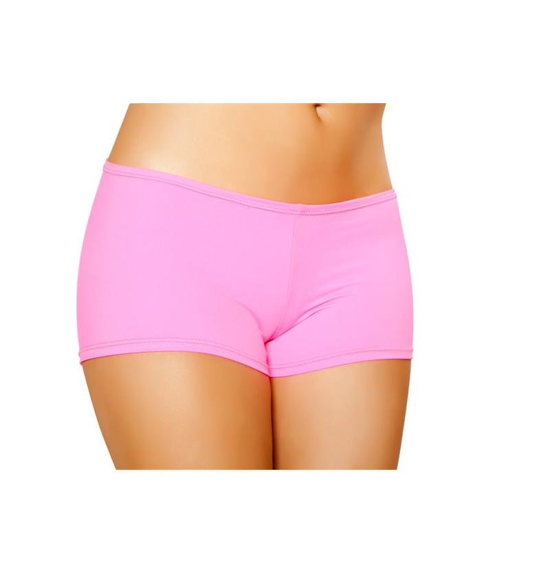 Roma S/M / Pink Hot Pink Full Cover Shorts SHC-SH223-PINK-S/M-R Hot Pink Full Cover Shorts Festival Rave Dance Roma SH223 Apparel & Accessories > Costumes & Accessories > Costumes