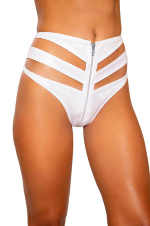 Roma S/M / White Black Snake Skin Cutout High-Waist Shorts w/ Zipper Closure( White is also available) SHC-3728-WHITE-S/M-R Black Snake Skin Cutout High-Waist Short Festival Rave Dance Roma 3728 Apparel & Accessories > Costumes & Accessories > Costumes