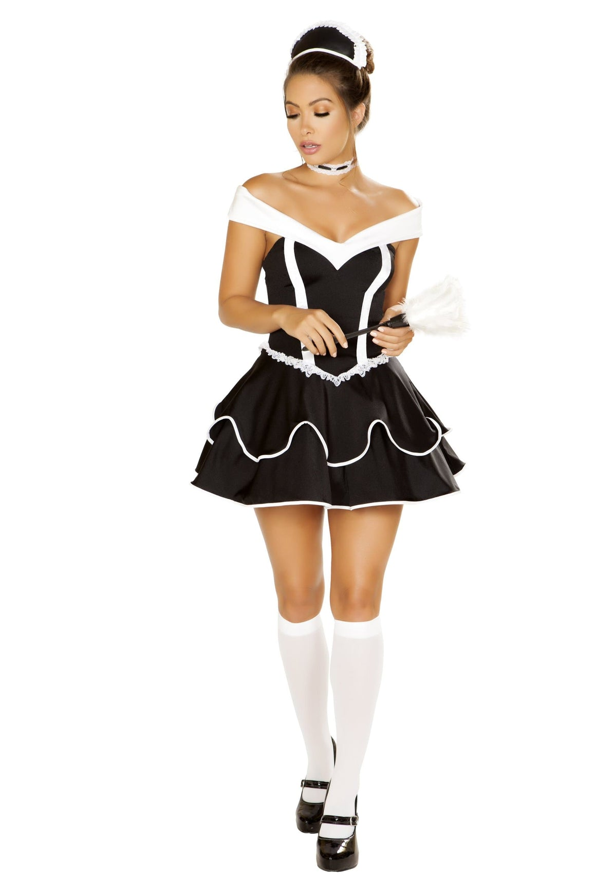 Roma Small / Black 4pc Sexy Chamber Maid SHC-4886-S-R Apparel & Accessories > Costumes & Accessories > Costumes